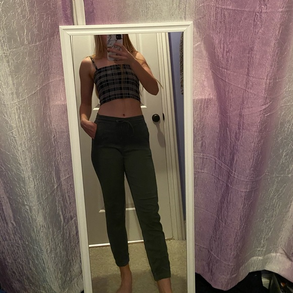 Free People Pants - Army Green Joggers